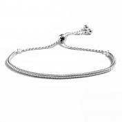 Peermont Jewellers Sterling Silver Round Snake Chain Adjustable Bracelet