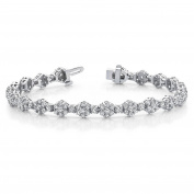 10.00 ct. Round Diamond Flower Cluster Bracelet with a Safety Clasp