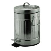 Small 3L Metal Pedal Bin Mini Retro Steel Bedroom Bathroom Rubbish Waste Dustbin
