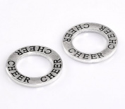 CHEER 30 Pc Circle Washer Charm Connector School Spirit Ring