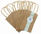 Brown Kraft Bag, Birthday Party Gift Favour Bag Set - 36 Count - Small