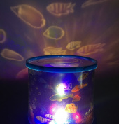 Aeeque Ocean Fish Led Light Projector Baby Night Light Relaxing Mood Deep Sea Fish Light for Men Women Teens Kids Children Sleeping Aid
