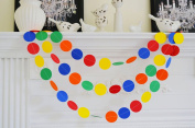 2Pack Oyep(TM) Circle Dots Paper Garland for Room Party Decorations(7.9m Long Set of 2) - Gold ,Glitter