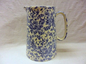 .  sale 4 Pint Extra Large Jug in blue blossom design by Heron Cross Pottery.