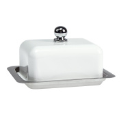 Contento 672176 Butter Dish Stainless Steel White