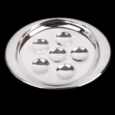 MyLifeUNIT 6-Hole Snail Dish, Stainless Steel Escargot Plate