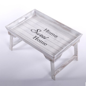 """WOODEN TRAY """"HOME SWEET HOME""""   vintage white, tray with feet, with lettering   Shabby-Chic"""