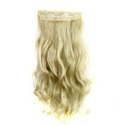 Alonea 5Pcs Clip False Hair Synthetic Hair Extension Curly Heat Resistant Hair
