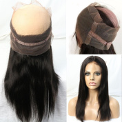 """WOB Hair 8A Grade 100% Brazilian Human Hair 60cm x 10cm X2"""" Full Lace Band Around Frontal 150% Density Illusion Natural Hairline 360 Frontal 60cm Natural Colour"""