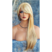 Imcolorful Long Curly Wig New Fashion Big Wavy Hair Heat Resistant Wig for Cosplay Party Costume with Free Wig Cap