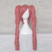 Corpse Demon Shimizu Megumi Pink 70cm Cosplay Wig + Free Wig Cap Two Ponytails