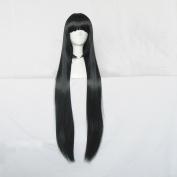 XXXholic Ichihara Yuko Black 150cm Straight Cosplay Wig + Free Wig Cap