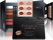 Aesthetica Nude Lip Contour Kit - Contouring and Highlighting Matte Lipstick Palette Set - Includes Six Lip Crèmes, Four Lip Liners, Lip Brush and Step-by-Step Instructions - Vegan & Cruelty Free