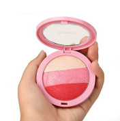 Beauty Face 3 Colour Blush Makeup Baked Cheek Blusher Palette Colorete Sleek Cosmetic Face Shadow Press Powder