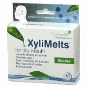XyliMelts Discs for Dry Mouth, Mint Free, 80 ea - 2pc