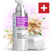 Anti-Ageing Retinol Night Cream - Professional Swiss Formula Features Retinol, Hyaluronic Acid, Coconut Oil, Moringa Oil & Vitamin E For Amazing Anti-Wrinkle & Anti-Ageing Benefits!