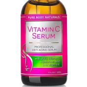 Vitamin C Serum, Professional Topical Facial Skin Care Helps Repair Sun Damage, Fade Age Spots, Dark Circles, L-ascorbic Acid, Wrinkles & Fine Lines - 30ml