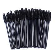 BTYMS 100 pcs Disposable Eyelash Mascara Applicator Wand Brush