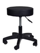TMS Adjustable Black Tattoo Salon Stool Hydraulic Rolling Chair Facial Massage Spa