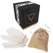 Garshana Gloves -100% Raw Silk Massage Gloves Ideal for Ayurvedic Massage, Dry Skin Brushing, Exfoliation, Cellulite Reduction, Uncloging Pores, Stimulating Your Lymphatic System and Removing Toxins