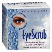 Eye Scrub Sterile Eye Makeup Remover & Eyelid Cleansing Pads 30 ea by Novartis Ophthalmics, Inc.