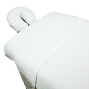 High Quality - 3pc Microfiber Massage Table Sheet Set - White - Exclusively by Blowout Bedding RN# 142035