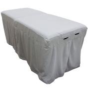 Microfiber Massage Table Skirt - Mirage Grey