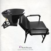 Salon Backwash Shampoo Tilt Bowl Sink Wall Mounted Easy Reclining Shampoo Chair TLC-B36WT-216A