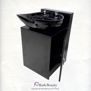 Black CERAMIC Beauty Salon Shampoo Bowl Floor Cabinet w/ Storage B07FC