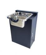 Stainless Steel Salon Shampoo Bowl w/ Floor Cabinet in Black