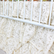 Vintage Lace 3 Tier Ruffled Crib Skirt