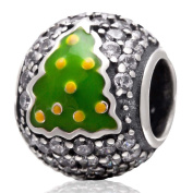 Christmas Tree Charm 925 Sterling Silver Gift Charm for Pandora Charm Bracelet