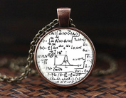Math Equation necklace, Mathematical formulas, Quantum physics, Science Jewellery, Math Equation, Equations, men's necklace