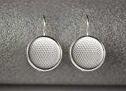 Golf ball earrings, Golf earrings, Golf sport jewellery