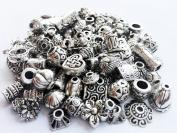 eCrafty EC-5004 120-Piece Bali Style Jewellery Making Metal Bead Caps Deluxe New Mix, 40gm, Silver