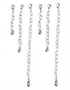 Necklace Bracelet Extenders ~ 6 Pieces ~ 2.5cm 5.1cm 10cm ~ Silver Tone