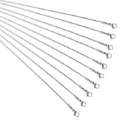 PandaHall Elite 10 Strands Stainless Steel Snake Chains Necklace Findings 44cm Jewellery Making Chains