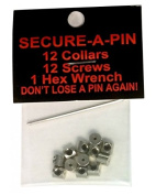 Secure a Pin with Allen Wrench Pin Collars - 12 Pack