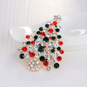 Miss.AJ Jewellery Marquise Crystal Christmas Tree Brooch Pin Rhodium Plated with gift box