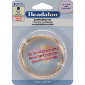 German Style Wire-Gold Round - 20 Gauge, 6m (418615) By The Foot