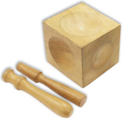 WOODEN DAPPING BLOCK & PUNCHES : ( Pack of 12 Pc. )