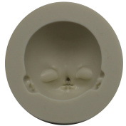 Funshowcase 3D Human Face Silicone Mould for Sugarcraft, Fondant, Polymer Clay, Soap Making, Epoxy Resin, Doll Making, Crafting Projects A15