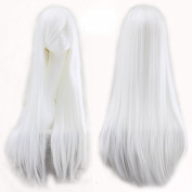 Simpleyourstyle Wigs 80cm/31.5inch Cosplay Wigs For Women Straight White Full Wigs