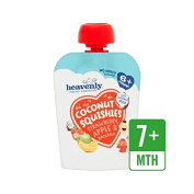 Heavenly Organic Coconut Squishies Strawberry, Apple & Banana 90g - Pack of 2
