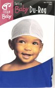 Satin Baby Du Rag Royal Blue satin, breathable material, comfortable, ultra stretch, stretchable, super stretch, long tail, extra long tail, babies