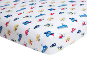 Planes Cars and Boats, Fitted Crib Sheet, Frenchie Mini Couture
