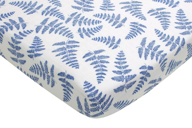 Fitted Organic Cotton Crib Sheet by Margaux & May - Blue Fern