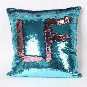 SMTSMT Double Colour Glitter Sequins Throw Pillow Case Cafe Home Decor Cushion