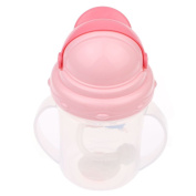 VANKER Durable Cute Rabbit 150ML Baby Toddler Drinking Bottle Straw Handle Sippy Cup Mug