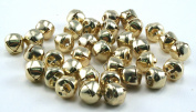 3/8 Inch 10mm Gold Small Jingle Bells Bulk 150 Pieces